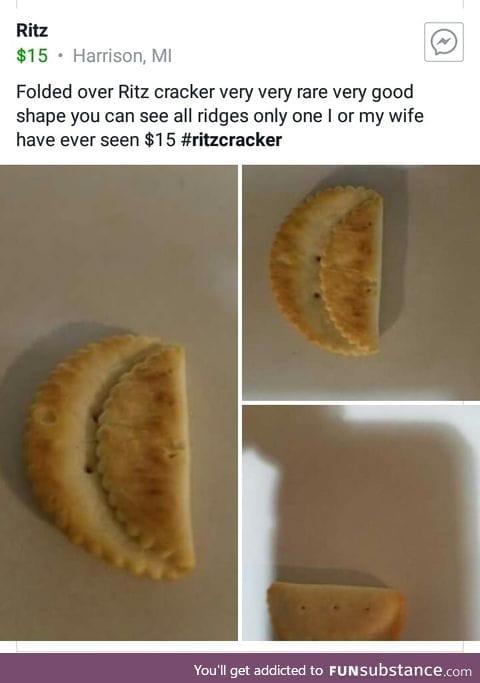 Folded over Ritz cracker