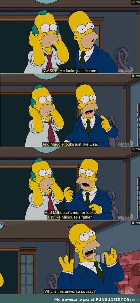 Homer realised