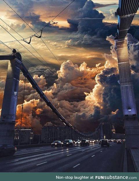 Krymski bridge, moscow