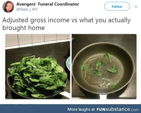 What you got vs what you get to eat
