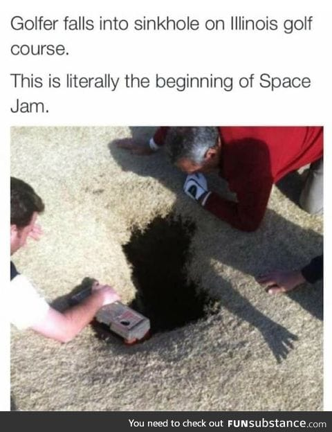 The beginning of Space Jam