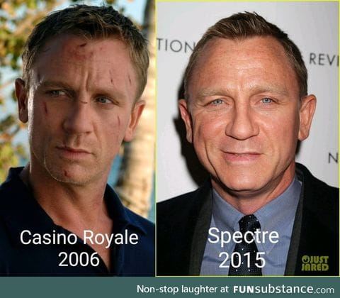 What 9 years can do to Mr. Bond