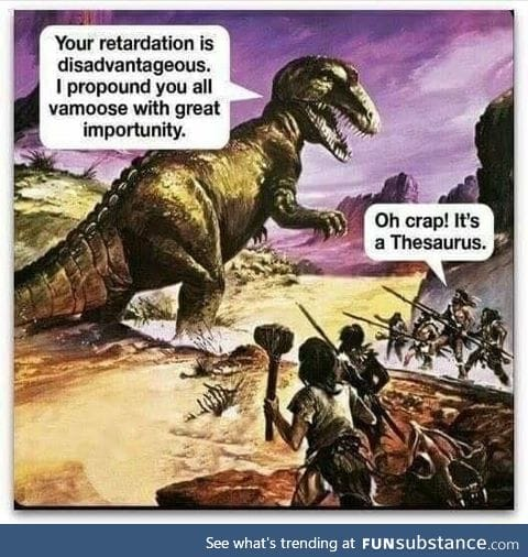 It's thesaurus