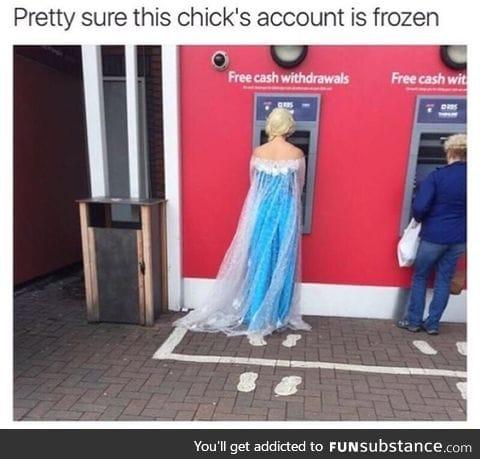 Frozen account
