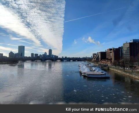 Perfectly split sky
