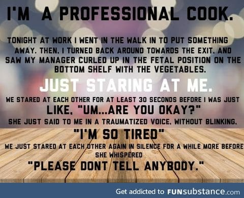 Ever wondered what it's like being a cook?
