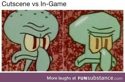 Cut scene vs in-game