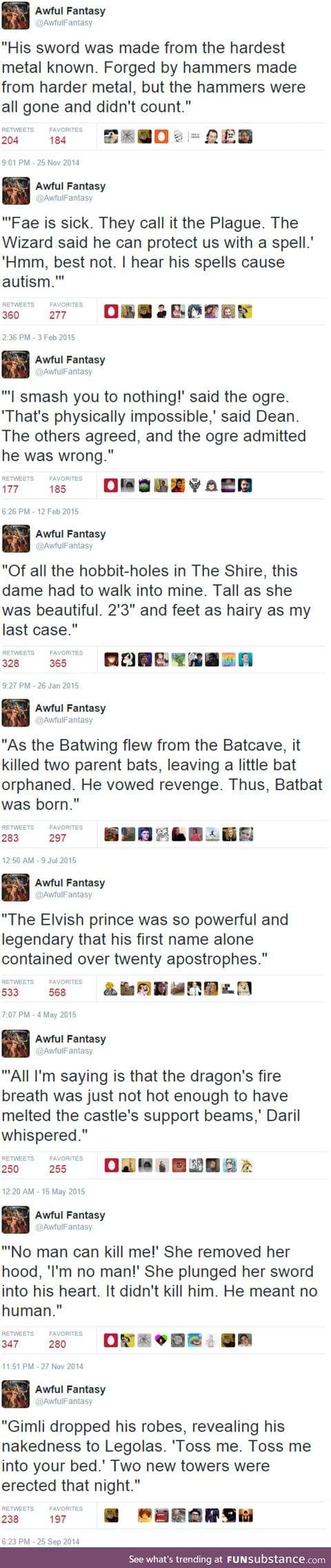 9 awful fantasies