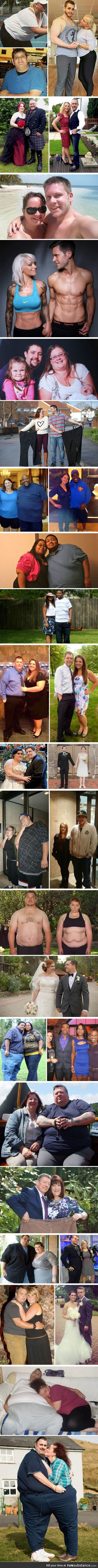 Couples losing weight together