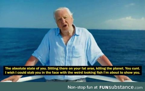 David Attenborough and his words