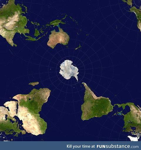 Antarctic-centric world view