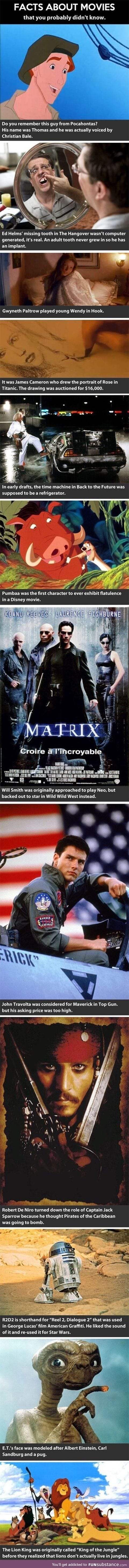 Movie facts you didn't know