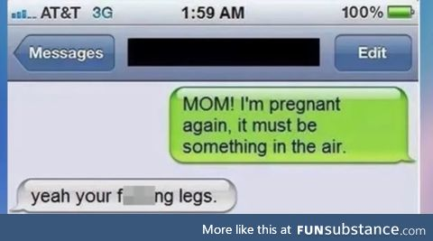 Something in the air is making her pregnant