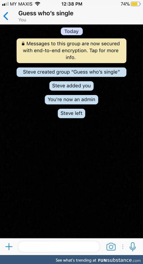Haha f**k you too Steve