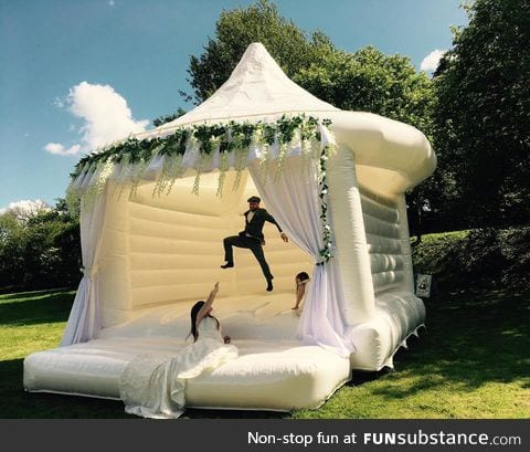 """""""Let's get married in a bounce house!"""" she said"""