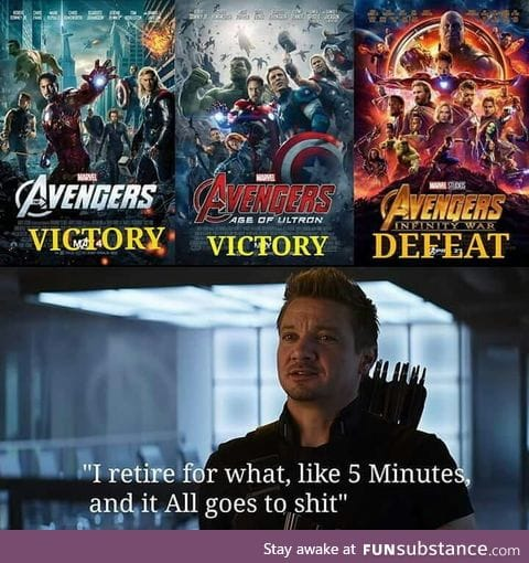 The only reason why Thanos managed to succeed in his mission
