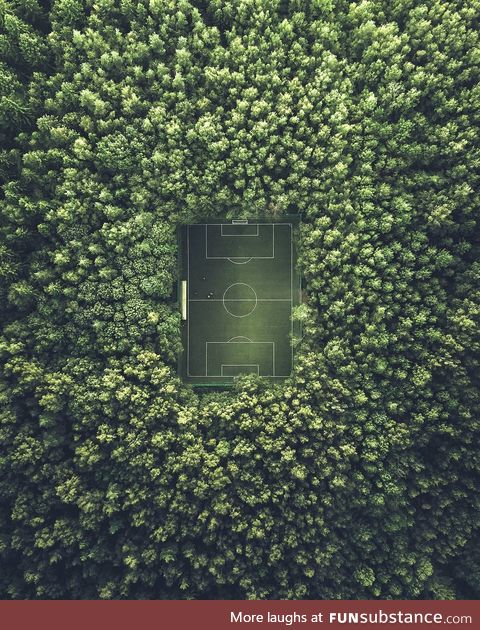 Soccer field in Moscow