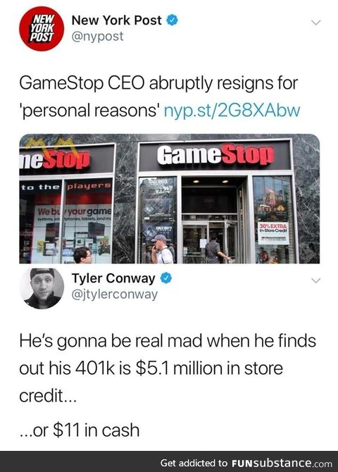 If he kept his power up rewards card, it's worth $12.10