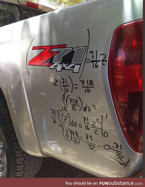 The math vandal strikes again!
