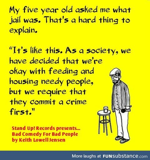 Explaining jail to a 5 year old