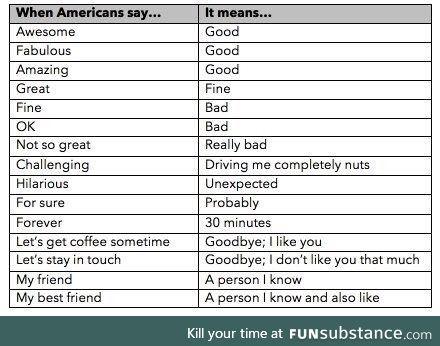 How to speak American