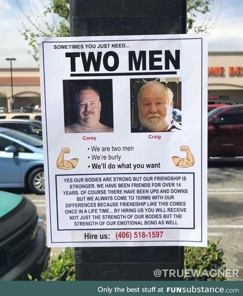 2 strong men