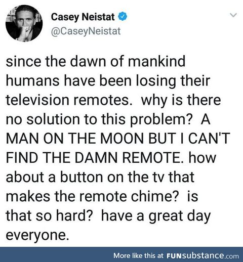 Where is the damn remote!?