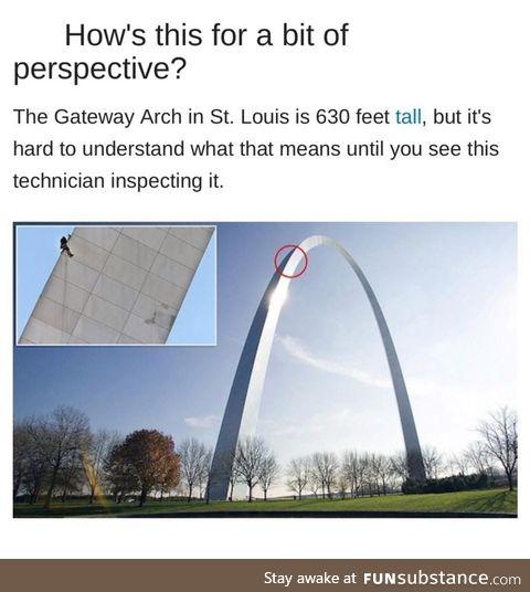It's a huge arch
