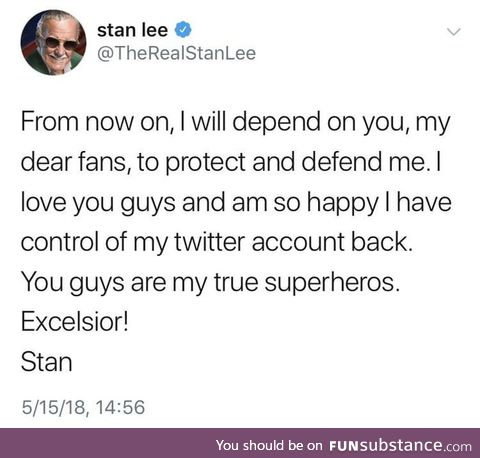 We need to protect Stan at all costs