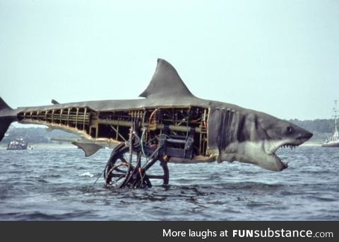 The Shark from the 1975 Spielberg film 'Jaws'