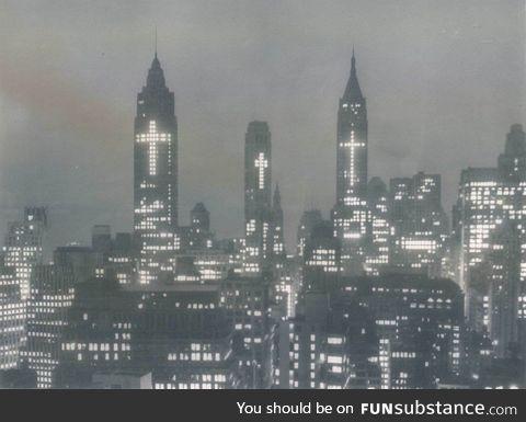 New York City skyline, Easter 1956