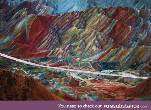 Danxia landform geological park, china