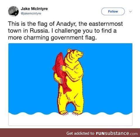 Charming government flag
