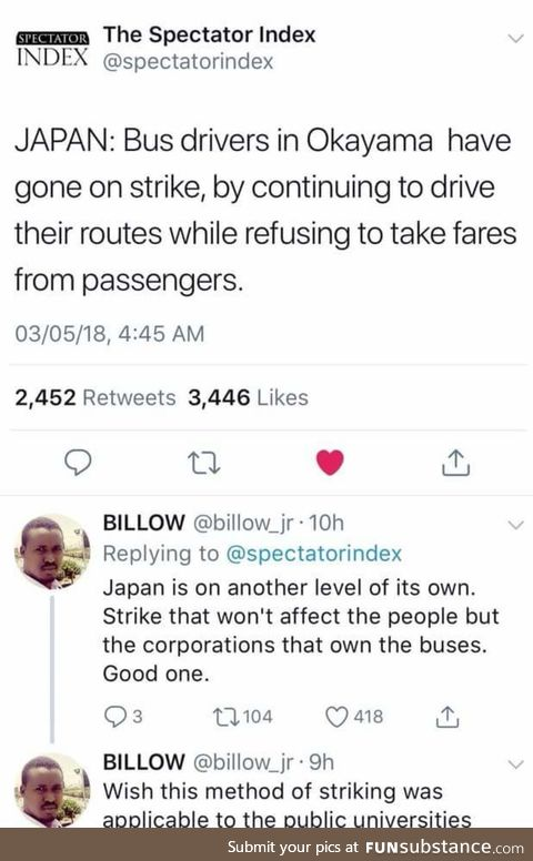 A strike that doesn't affect the people