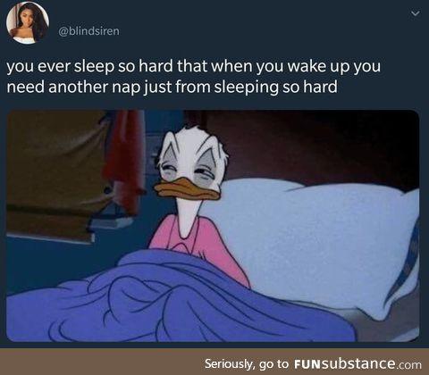 I slept for how long?