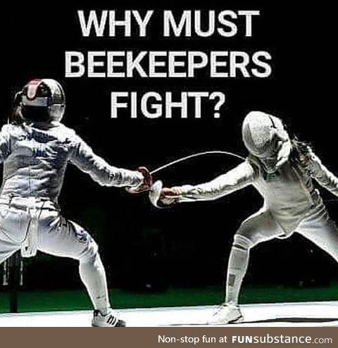Beekeepers fighting