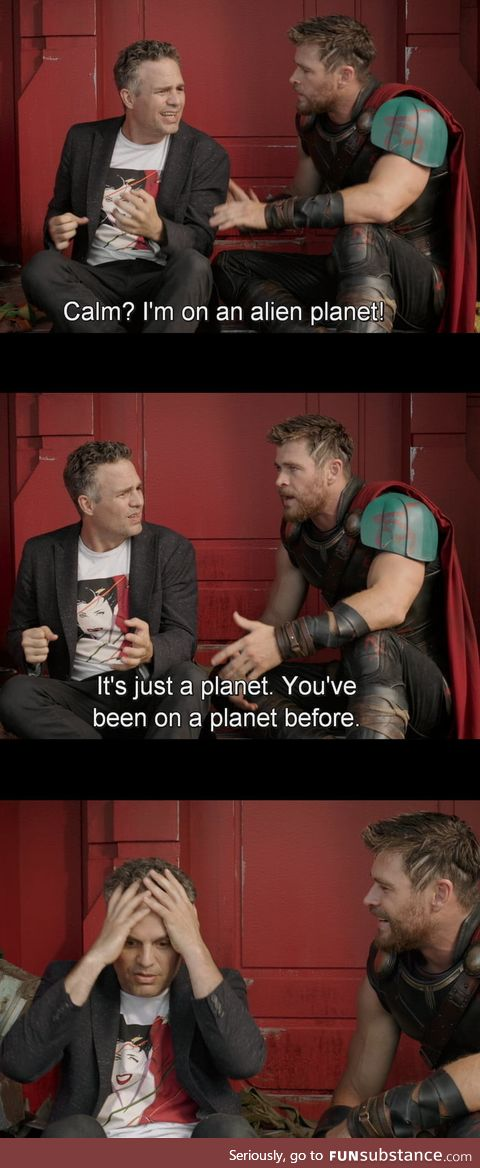 Thor Ragnarok: One of the infinite jokes/quotes. One of my favorite