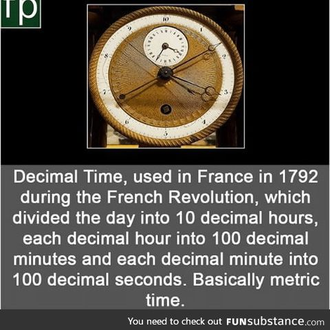 Remember when France tried metric time