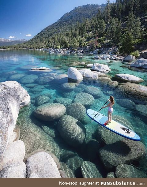 Crystal clear water of Lake Tahoe