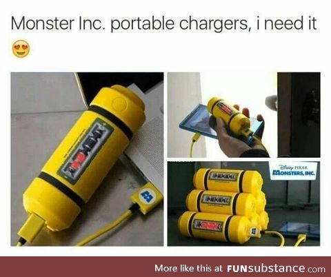 Monster Inc. portable chargers