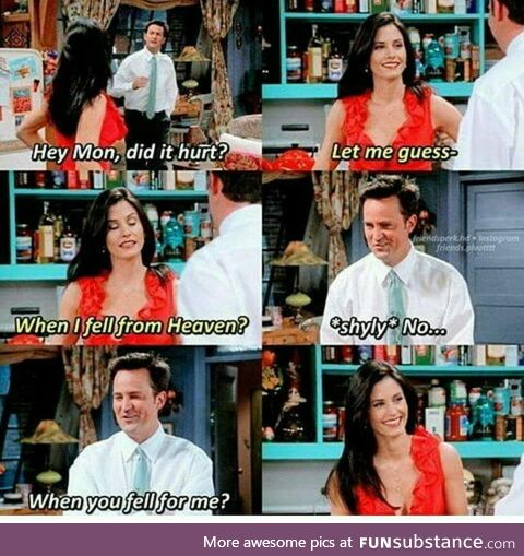 Chandler and Monica everybody