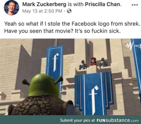 Stolen FB logo