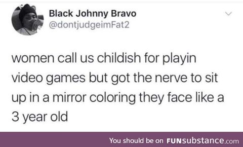 Your face isn't a coloring book