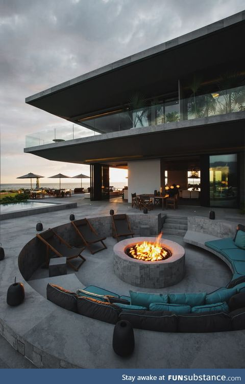 Inviting outdoor firepit
