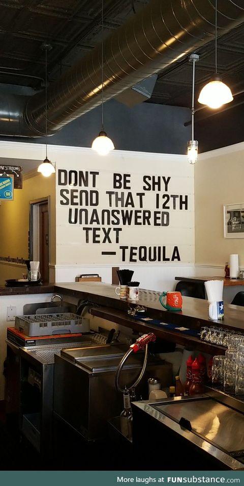 Tequila makes a convincing argument