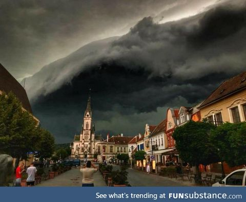 Storm looming over Kőszeg