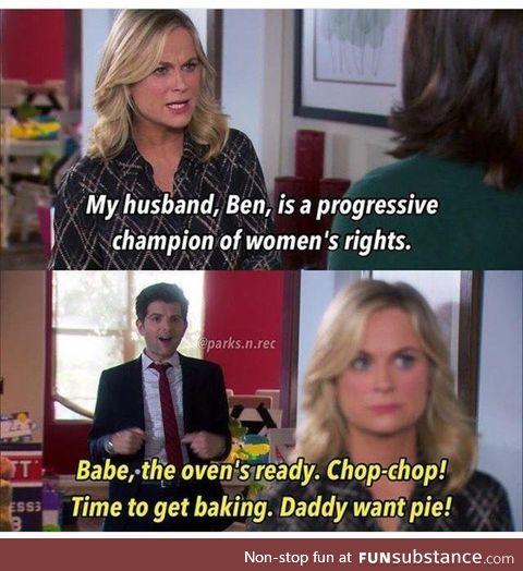 Daddy want pie