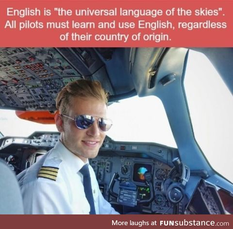 English is the universal language of the skies