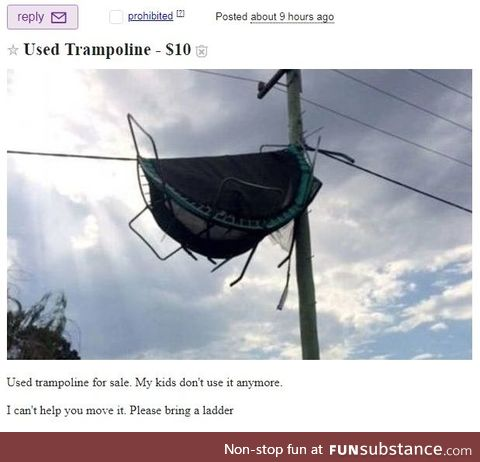 Used Trampoline for sale