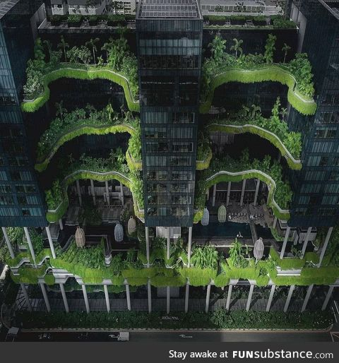 A green building in Singapore